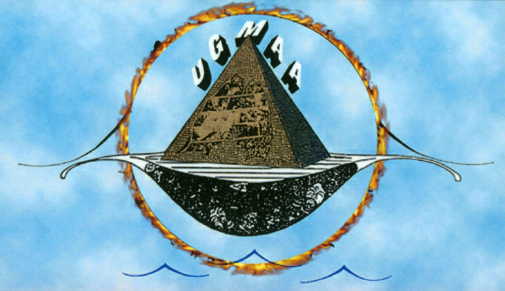 UGMAA Foundation logo, designed by Michael Dett Wilcots, mid-1970s. (© Michael Dett Wilcots)