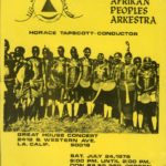 Leaflet for Arkestra concert, 1976. (Collection of Kamau Daáood)