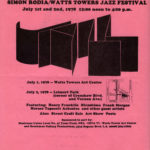 Flyer for Watts Towers Jazz Festival, 1-2 July 1978. (Courtesy of Watts Towers Arts Center)